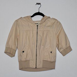 Mudd Beige Cropped Jacket Junior's Large